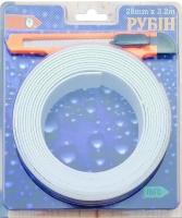 Белая самоклеящаяся зашитная лента - бордюр для ванной 28 мм * 3,2 м