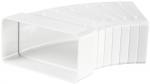 Колено горизонтальное универсальное 3-45º прямоугольного ПВХ канала Vents 60х204