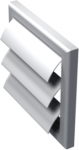 Решетка с гравитационными жалюзи Vents МВ 100 Ж
