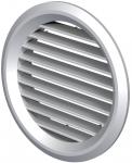 Вентиляционная решётка Vents МВ Ø 50/4 бВ металлик