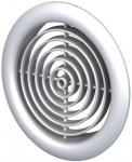 Вентиляционная решётка Vents МВ Ø 51/4 бВ металлик