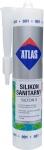 Санитарный белый силиконовый герметик Atlas Silton S - 001