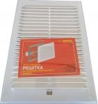 Вентиляционная решетка с жалюзи белая 18 х 25