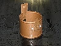 Держатель трубы 90 мм под дюбель