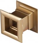 Квадратная дверная вентиляционная металлизированная решётка Awenta TD 14me