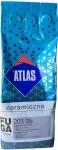 Керамическая затирка для плитки стального цвета 203 / 2 кг. ТМ Atlas