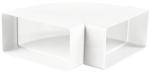 Колено горизонтальное 90º прямоугольного ПВХ канала Vents 60х204