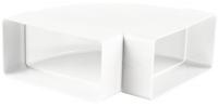 Колено горизонтальное 90º прямоугольного ПВХ канала Vents 90 х 220 мм