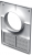 Кухонная вентиляционная решетка Vents ДВ 100 КВс
