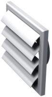 Решетка с гравитационными жалюзи Vents МВ 120 ВЖ