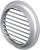 Вентиляционная решётка Vents МВ Ø 50/4 бВ металлик (хром)