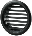 Вентиляционная решётка Vents МВ Ø 50/4 бВ чёрная