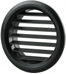 Вентиляционная решётка Vents МВ Ø 80/2 бВ чёрная