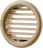 Вентиляционная решётка Vents МВ Ø 50/4 бВ светлый дуб