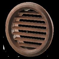 Вентиляционная решётка Vents МВ Ø 80/2 бВ красное дерево