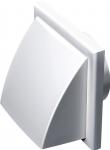 Фасадный белый обратный клапан Домовент  ДВ 122 ВК