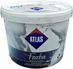 Водоэмульсионная латексная краска стойкая к истиранию и мытью Atlas Pro Farba 10 л.