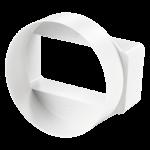 Редуктор для плоских и круглых ПВХ каналов Ø100/110*55мм