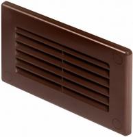 Решетка торцевая ПВХ канала Awenta 55*110 коричневая