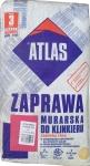 Смесь с минералами для кладки и затирки швов клинкера тёмно-коричневая 024 Atlas Zaprawa Klinkieru