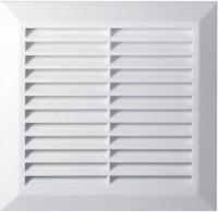 Вентиляционная решётка T 27 (20*20 Ø150) белая  с фланцем