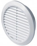 Вентиляционная решётка Т 30 (Ø100) белая с фланцем