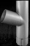 Тройник водосточной трубы 100 мм