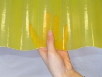 Волнопласт Жёлтый армированный